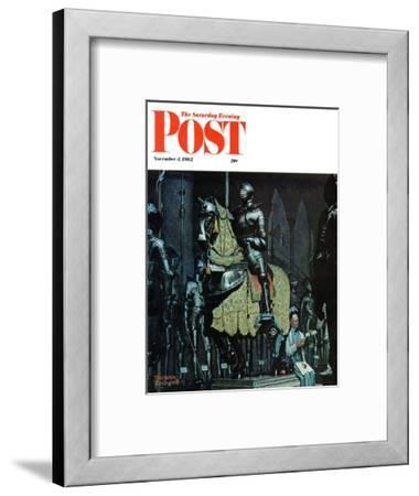 """Armor"" Saturday Evening Post Cover, November 3,1962"