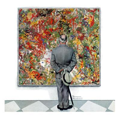 """""""Art Connoisseur"""", January 13,1962 by Norman Rockwell"""