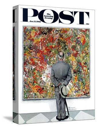 """""""Art Connoisseur"""" Saturday Evening Post Cover, January 13,1962"""
