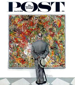 """Art Connoisseur"" Saturday Evening Post Cover, January 13,1962 by Norman Rockwell"