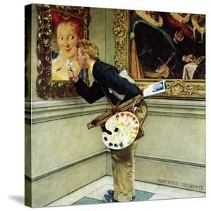 """""""Art Critic"""", April 16,1955 by Norman Rockwell"""