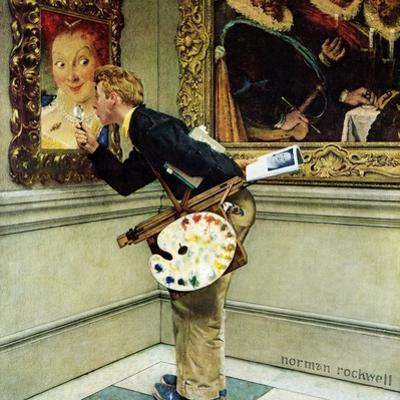 """Art Critic"", April 16,1955 by Norman Rockwell"