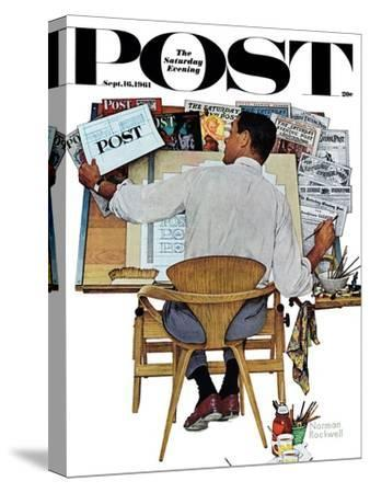 """""""Artist at Work"""" Saturday Evening Post Cover, September 16,1961"""