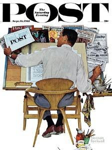 """""""Artist at Work"""" Saturday Evening Post Cover, September 16,1961 by Norman Rockwell"""