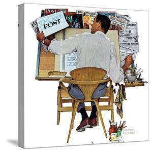 """""""Artist at Work"""", September 16,1961 by Norman Rockwell"""