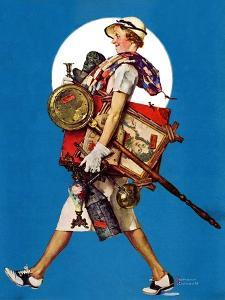 """At the Auction"" or ""Found Treasure"", July 31,1937 by Norman Rockwell"