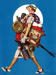 """""""At the Auction"""" or """"Found Treasure"""", July 31,1937 by Norman Rockwell"""