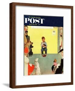 """""""At the Vets"""" Saturday Evening Post Cover, March 29,1952 by Norman Rockwell"""