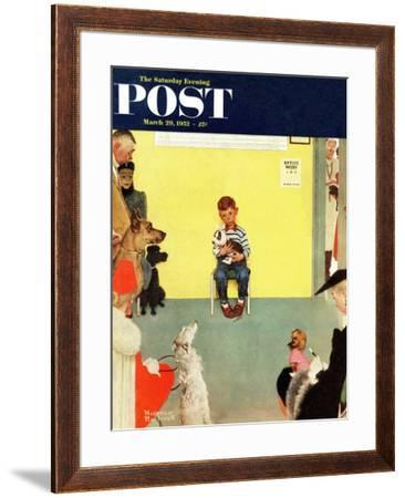 """At the Vets"" Saturday Evening Post Cover, March 29,1952 by Norman Rockwell"