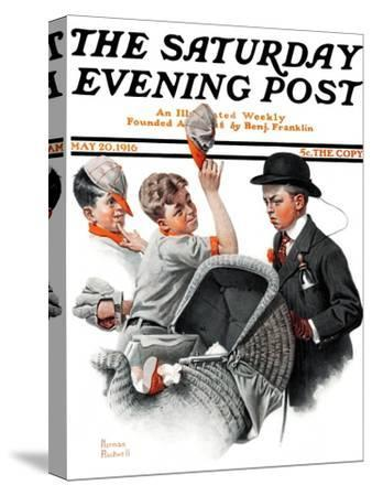 """""""Baby Carriage"""" Saturday Evening Post Cover, May 20,1916"""