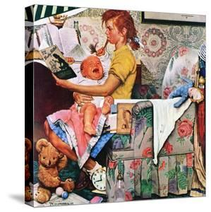 """""""Baby Sitter"""", November 8,1947 by Norman Rockwell"""