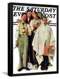 """Barbershop Quartet"" Saturday Evening Post Cover, September 26,1936 by Norman Rockwell"