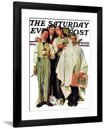"""""""Barbershop Quartet"""" Saturday Evening Post Cover, September 26,1936 by Norman Rockwell"""