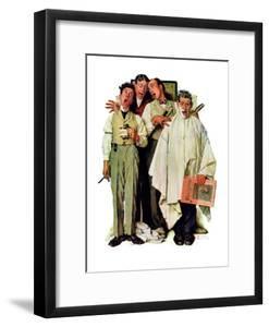 """""""Barbershop Quartet"""", September 26,1936 by Norman Rockwell"""