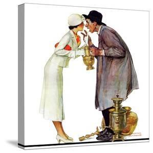 """""""Bargaining with Antique Dealer"""", May 19,1934 by Norman Rockwell"""