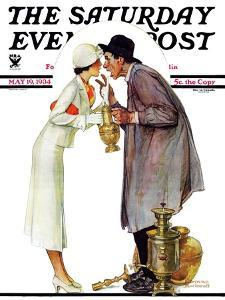 """""""Bargaining with Antique Dealer"""" Saturday Evening Post Cover, May 19,1934 by Norman Rockwell"""