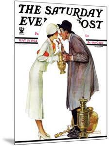 """Bargaining with Antique Dealer"" Saturday Evening Post Cover, May 19,1934 by Norman Rockwell"