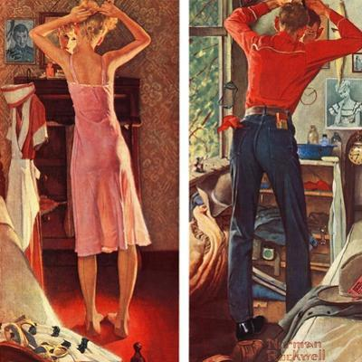 """""""Before the Date"""", September 24,1949 by Norman Rockwell"""