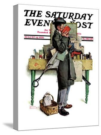 """""""Bookworm"""" Saturday Evening Post Cover, August 14,1926"""