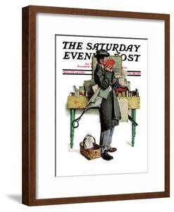 """""""Bookworm"""" Saturday Evening Post Cover, August 14,1926 by Norman Rockwell"""