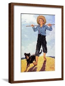 Boy and Dog by Norman Rockwell