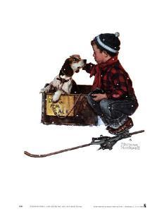 Boy Meets His Dog by Norman Rockwell