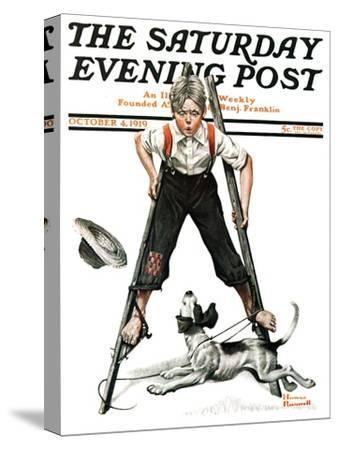"""Boy on Stilts"" Saturday Evening Post Cover, October 4,1919"
