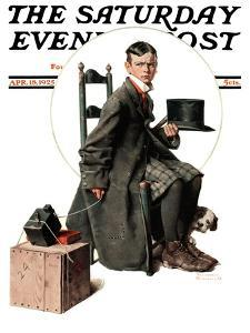 """Boy Taking His Self-Portrait"" Saturday Evening Post Cover, April 18,1925 by Norman Rockwell"