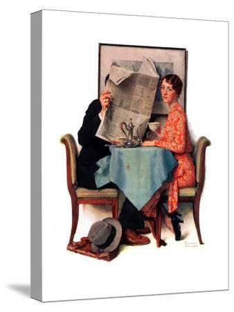 """Breakfast Table"" or ""Behind the Newspaper"", August 23,1930"
