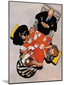 """""""Bridge Game"""" or """"Playing Cards"""", May 15,1948 by Norman Rockwell"""