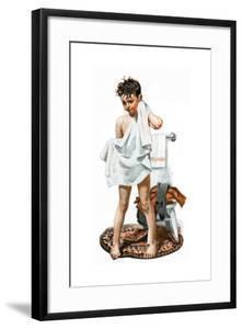 C-L-E-A-N (or Boy Drying Off after Bath) by Norman Rockwell