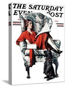 """""""Candy"""" Saturday Evening Post Cover, June 27,1925 by Norman Rockwell"""