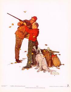 Careful Aim by Norman Rockwell