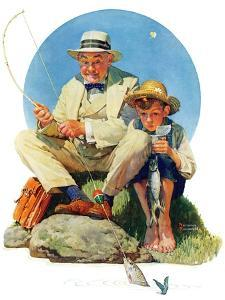 """""""Catching the Big One"""", August 3,1929 by Norman Rockwell"""