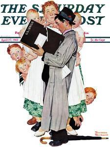 """Census-taker"" Saturday Evening Post Cover, April 27,1940 by Norman Rockwell"