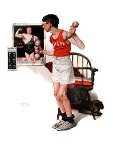 """""""Champ or Be a Man"""", April 29,1922 by Norman Rockwell"""