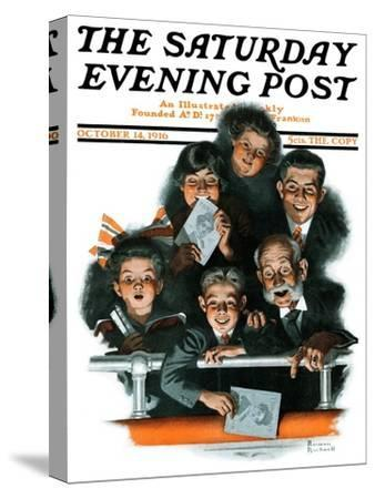 """""""Charlie Chaplin Fans"""" Saturday Evening Post Cover, October 14,1916"""