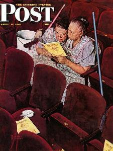 """""""Charwomen"""" Saturday Evening Post Cover, April 6,1946 by Norman Rockwell"""