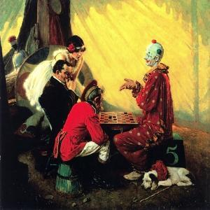 Checkers by Norman Rockwell