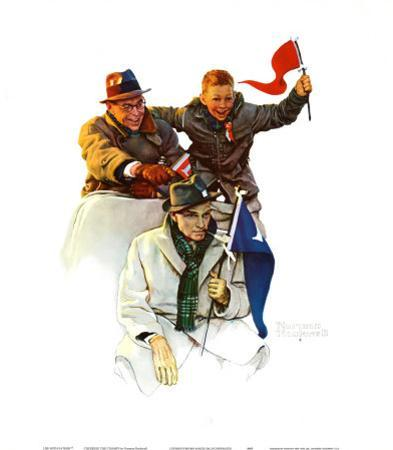 Cheering the Champs by Norman Rockwell