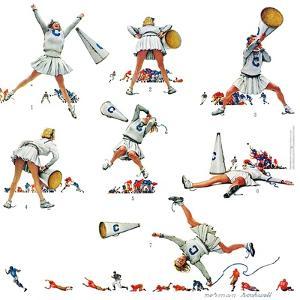 """Cheerleader"", November 25,1961 by Norman Rockwell"