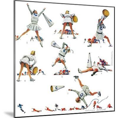 "Losing the Game Basketball Cheerleaders Norman Rockwell 12/""x12/"" ART"