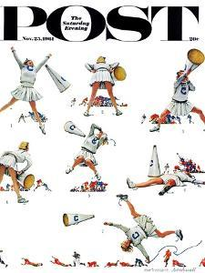 """Cheerleader"" Saturday Evening Post Cover, November 25,1961 by Norman Rockwell"