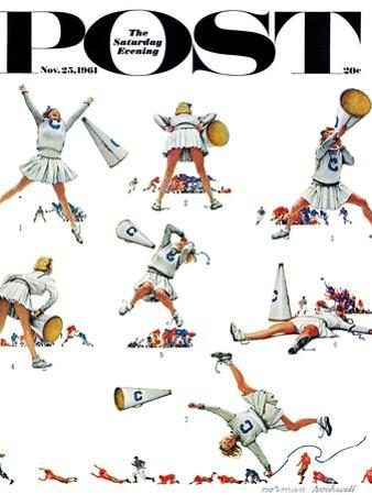 """""""Cheerleader"""" Saturday Evening Post Cover, November 25,1961 by Norman Rockwell"""