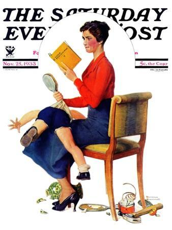 """Child Psychology"" or ""Spanking"" Saturday Evening Post Cover, November 25,1933"