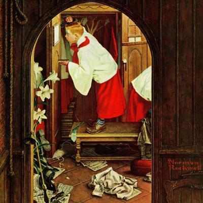 """""""Choirboy"""", April 17,1954 by Norman Rockwell"""
