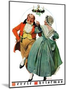 """Christmas Dance"" or ""Merrie Christmas"", December 8,1928 by Norman Rockwell"