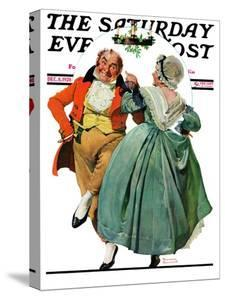 """Christmas Dance"" or ""Merrie Christmas"" Saturday Evening Post Cover, December 8,1928 by Norman Rockwell"