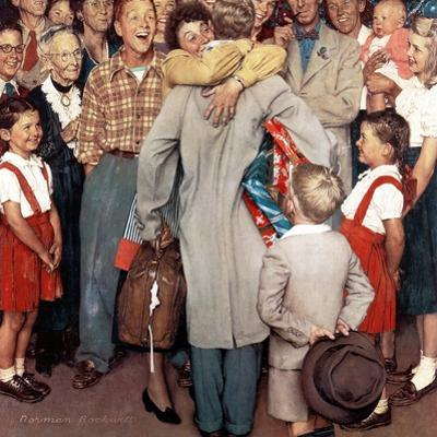 """Christmas Homecoming"", December 25,1948 by Norman Rockwell"