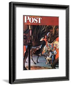 """Circus Artist"" Saturday Evening Post Cover, May 3,1947 by Norman Rockwell"
